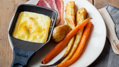 Photo de Raclette gourmande aux légumes rôtis au miel et magret de canard