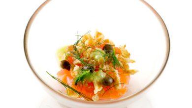 Photo de Les Gaufrettes au Beurre Jules Destrooper®, tartare de saumon et wasabi