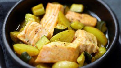 Photo de Saumon écossais Label Rouge aux courgettes et pommes de terre façon tajine