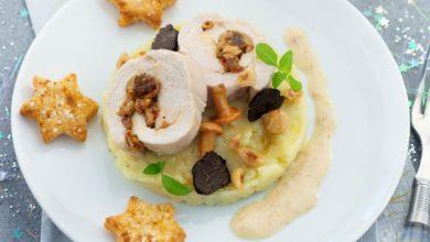 Photo de Roulade de dinde, champignons et crème champignons aux truffes