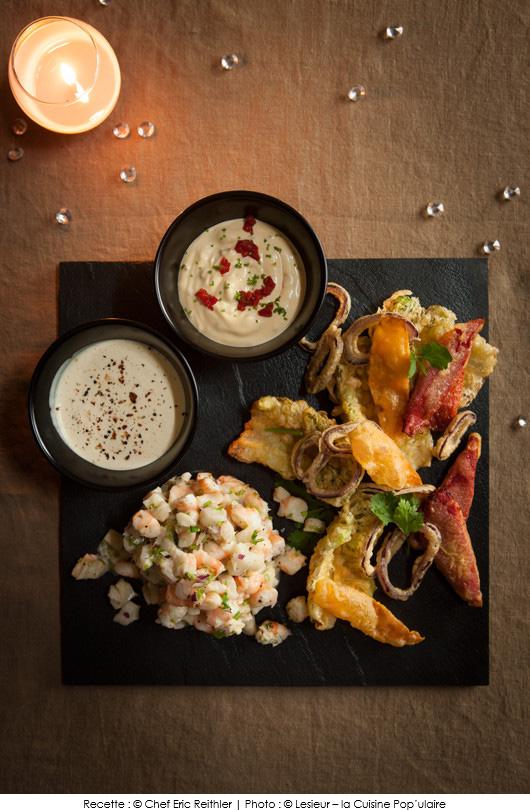 tartare-de-crevettes-et-cabillaud-tempura-de-legumes
