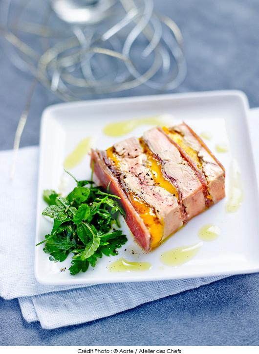 terrine de foie gras po l mangue jambon de bayonne aoste et gel e de sauternes au poivre de. Black Bedroom Furniture Sets. Home Design Ideas