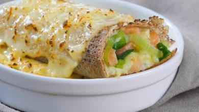 Photo de Galette poireau-saumon gratinée au curry