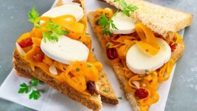 Photo de Sandwiches orientaux, carotte, raisins et En Cas de Caprice