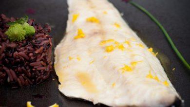 Photo de Bar rôti au beurre de miel et d'agrume