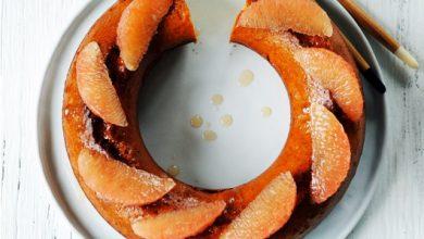 Photo de Gâteau acidulé au pamplemousse