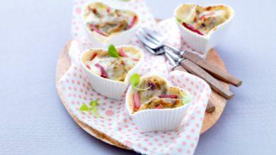 Photo de Mini-gratins gourmands d'artichauts aux allumettes de jambon