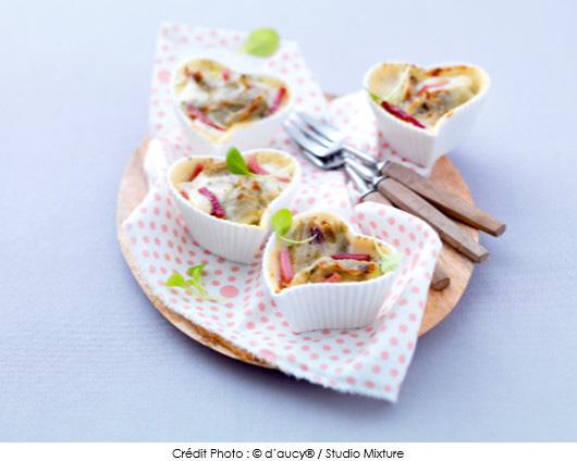 mini-gratins-gourmands-dartichauts-aux-allumettes-de-jambon