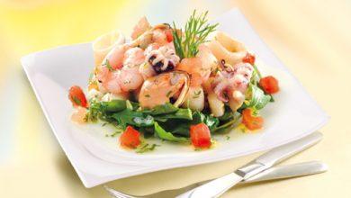 Photo de Salade de fruits de mer à l'huile d'olive vierge