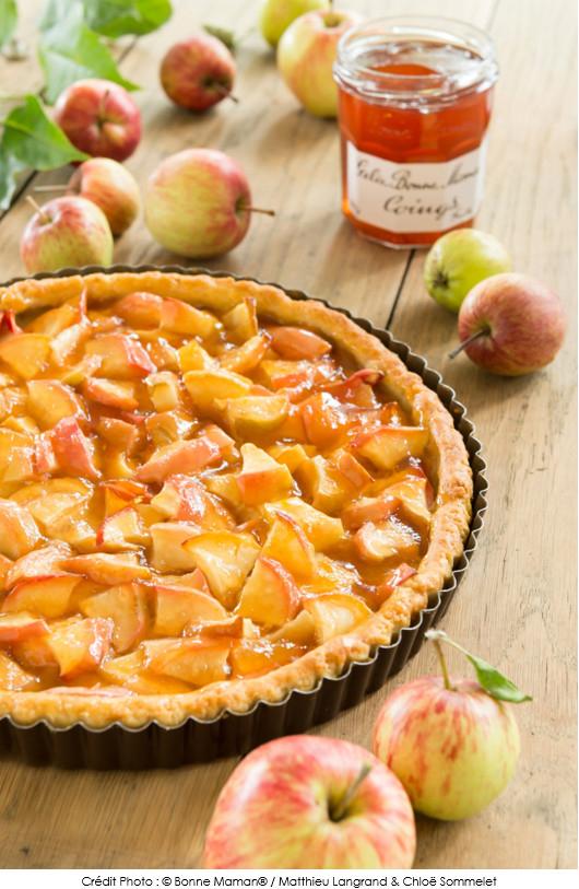 Tarte aux pommes et la gel e de coings bonne maman a - Gelee de pommes avec extracteur ...