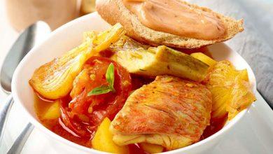 Photo de Bouillabaisse facile à la pâte de tomate et basilic Le Bol Garni