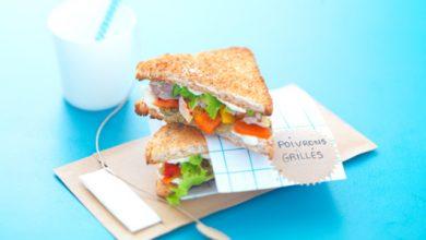 Photo de Clubs sandwichs à la « marseillaise » tapenade, poivrons grillés et maquereaux