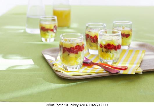 aspic de fruits exotiques aux pices a vos assiettes recettes de cuisine illustr es. Black Bedroom Furniture Sets. Home Design Ideas