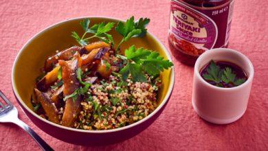 Photo de Aubergines confites et quinoa