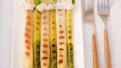 Photo de Duo d'asperges glacées à la Crème & au Beurre de Bresse AOP et aux herbes fraîches