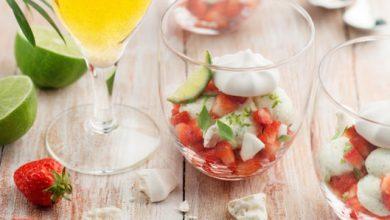 Photo de Eton Mess fraises, crème citron vert & basilic