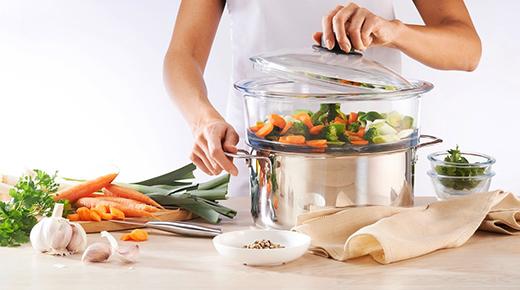 Panier vapeur pyrex l 39 allier de la cuisine saine et - Cuisine saine et gourmande ...