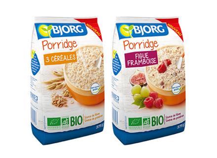 le porridge bjorg le petit d jeuner pour faire le plein d 39 nergie a vos assiettes. Black Bedroom Furniture Sets. Home Design Ideas