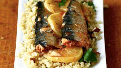Photo de Salade de quinoa aux « sardines au piment d'Espelette bio » & citron confit