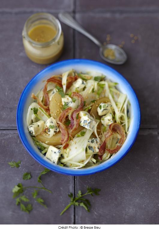 salade-de-fenouil-croquant-au-bresse-bleu-poire-et-pancetta-croustillante