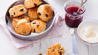 Photo de Scones à la cannelle et aux raisins secs
