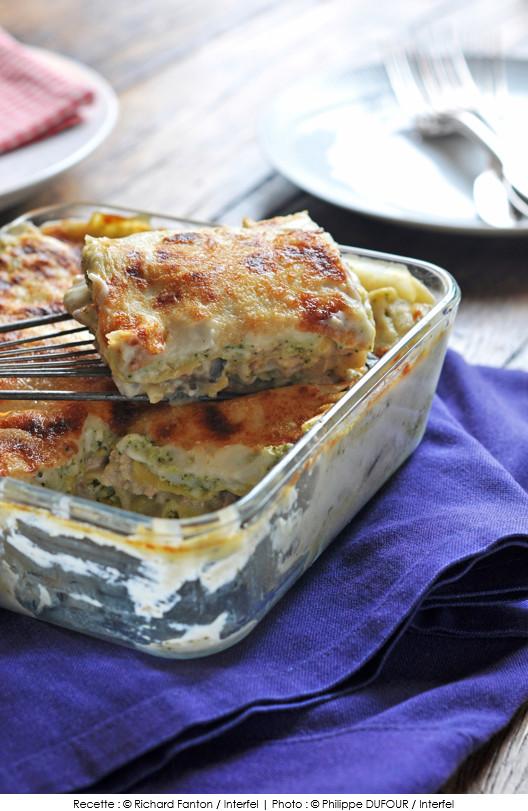 Lasagnes aux champignons, poulet et brocoli | A Vos ...