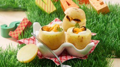 Photo de Œuf de Caille cocotte aux moules en habit de pomme de terre