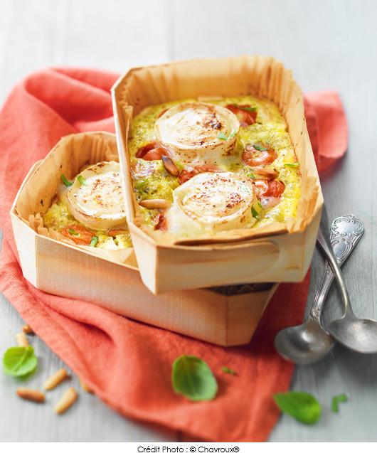 petits-clafoutis-aux-tomates-cerise-pesto-et-buche-de-chevre-chavroux