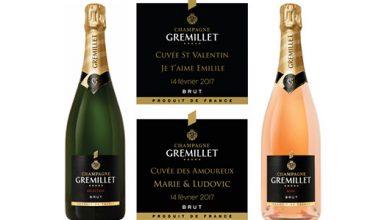 Photo de Pour la Saint-Valentin, GREMILLET crée un duo Blanc et Rosé personnalisé !