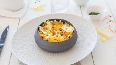Photo de Salade de Friseline, moules et oranges