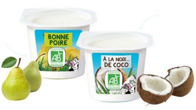 Photo de Les 2 Vaches vous présentent : le Yaourt brassé Bonne Poire et le Yaourt brassé à la Noix …  de Coco