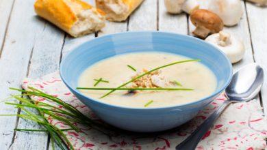Photo de Poulet crémeux et soupe de champignons