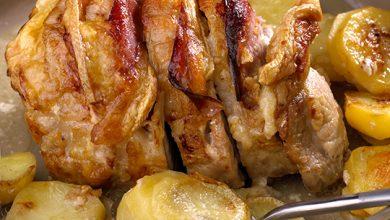 Photo de Rôti de porc au bacon et Raclette