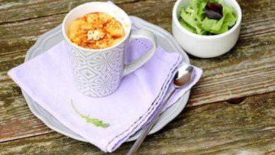 Photo de Mug cake aux tomates séchées, chorizo et Société® Crème