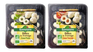 Photo de 2 nouveautés Bio signées Bonneterre : Billes de Fromage Cœur Pesto & Billes de Fromage Cœur Tomate