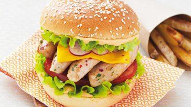 Photo de Burger de Dinde au cheddar et sauce cocktail