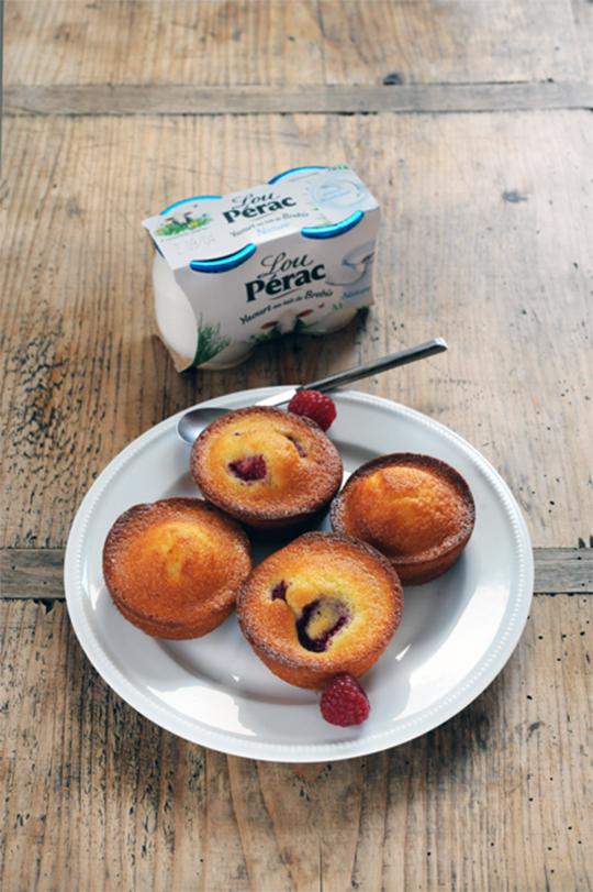 minis gâteaux au yaourt de brebis lou pérac | a vos assiettes