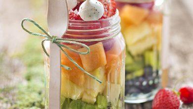 Photo de Salade de fruits à la fleur de sel le Guérandais et mini meringues au poivre