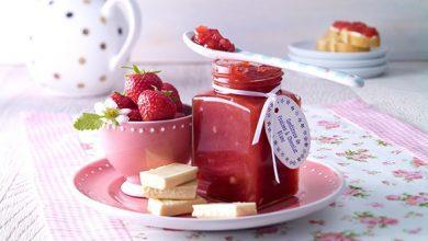 Photo de Confiture de fraises et chocolat blanc