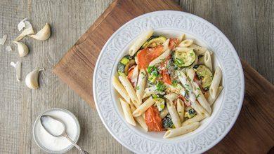 Photo de Penne aux légumes du soleil et à la crème d'ail