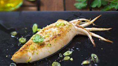 Photo de Calamar au citron vert gingembre et huile d'olive