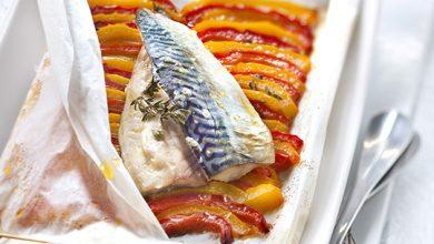 Photo de Papillotes de sardines à la fondue de poivrons