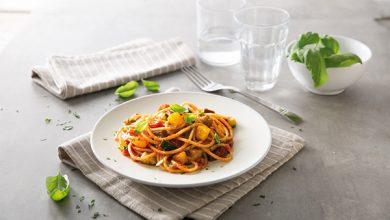 Photo de Spaghetti 3 Minuti à la sauce Basilico et aux légumes méditerranéens