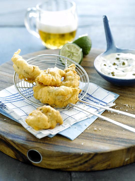 Beignets de poisson la bi re sauce au yaourt c pres et - Pate a beignet a la biere ...