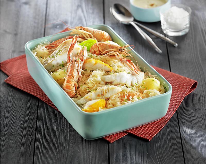 choucroute de la mer pavillon france a vos assiettes recettes de cuisine illustr es. Black Bedroom Furniture Sets. Home Design Ideas