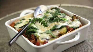Photo de Lasagnes de veau, aux légumes confits sauce Roquefort Société®