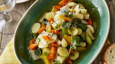 Photo de Pot-au-feu de légumes au curry doux