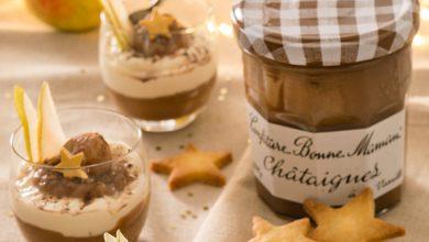 Photo de Verrines de mousse aux poires et Confiture de Châtaignes Bonne Maman®