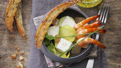 Photo de Avocat, pamplemousse, crevettes roses et Carré Frais® 0% revisités