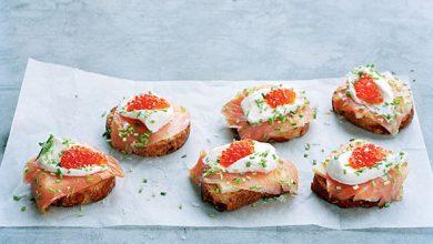 Photo de Crostini au saumon fumé de Norvège et au fromage